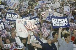 布什和Cheney市场活动集会 库存图片