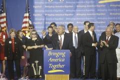 布什市场活动集会 免版税库存图片