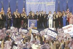 布什或Cheney市场活动集会 库存图片