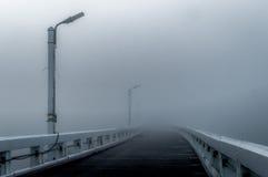 布兰肯贝尔赫有薄雾的早晨码头 免版税库存照片