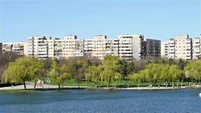 布加勒斯特共产主义公寓楼视图 影视素材