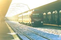 布加勒斯特北部火车站平台 库存照片