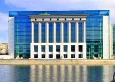 布加勒斯特国立图书馆  免版税图库摄影