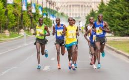 布加勒斯特国际半马拉松2015年 库存照片