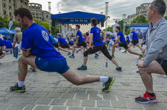布加勒斯特国际半马拉松 库存图片