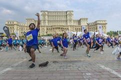 布加勒斯特国际半马拉松 图库摄影
