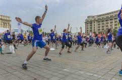 布加勒斯特国际半马拉松 免版税库存图片