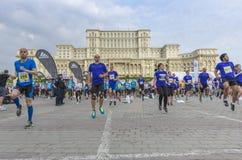 布加勒斯特国际半马拉松 库存照片