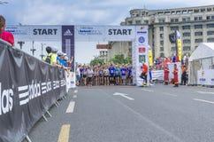布加勒斯特国际半马拉松 免版税库存照片