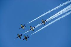 布加勒斯特国际飞行表演 库存图片