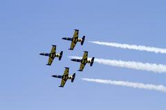 布加勒斯特国际飞行表演 免版税库存图片