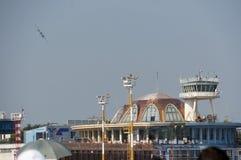 布加勒斯特国际飞行表演 库存照片