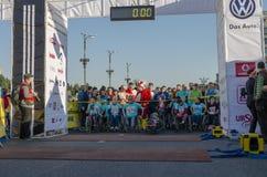 布加勒斯特国际马拉松2014年 免版税库存图片