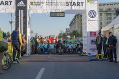 布加勒斯特国际马拉松2014年 免版税图库摄影