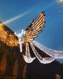 布加勒斯特圣诞灯 免版税库存图片