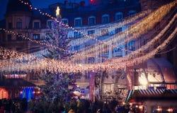 布加勒斯特圣诞节市场, 2015年12月 免版税库存图片