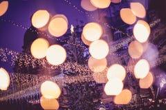 布加勒斯特圣诞节市场, 2015年12月 库存照片