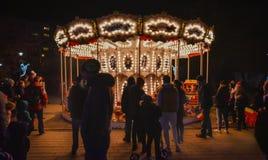 布加勒斯特圣诞节市场2016年 库存图片