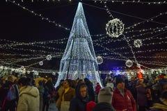 布加勒斯特圣诞节市场2016年 免版税库存图片