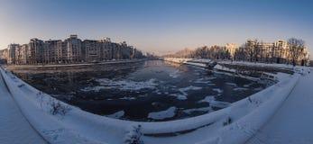 布加勒斯特在一个冬日 免版税库存图片