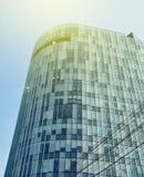 布加勒斯特在听说布加勒斯特的一skyscrapper, 免版税库存图片