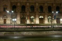 布加勒斯特地区法院入口 免版税库存图片