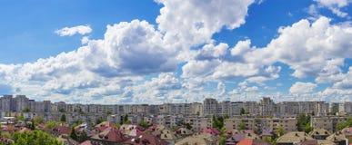 布加勒斯特地平线全景 库存图片