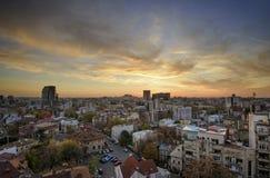 布加勒斯特地平线 库存照片