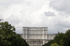 布加勒斯特宫殿议会 免版税库存图片