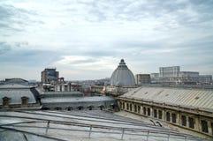布加勒斯特屋顶上面 免版税库存照片