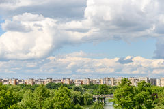 布加勒斯特市地平线视图 免版税库存图片