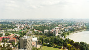 布加勒斯特市地平线 库存图片