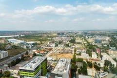 布加勒斯特市地平线 免版税库存图片