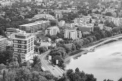 布加勒斯特市地平线 库存照片