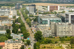 布加勒斯特市地平线 免版税库存照片