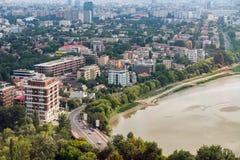 布加勒斯特市地平线 图库摄影