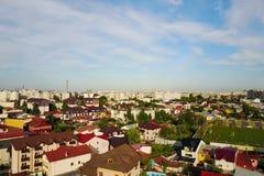 布加勒斯特市空中全景  图库摄影