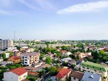 布加勒斯特市空中全景  免版税库存照片