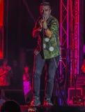 布加勒斯特庆祝557周年,从宪法广场的音乐会 库存图片