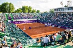 布加勒斯特开放网球赛竞技场 免版税库存图片
