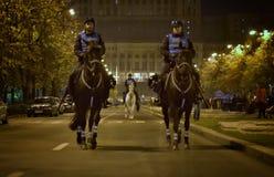 布加勒斯特抗议,修改正义法律  图库摄影