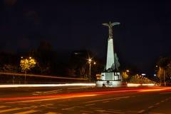 布加勒斯特晚上 免版税库存图片