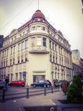从布加勒斯特的老arhitectural大厦 免版税库存图片