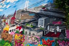 布加勒斯特街道画 库存图片