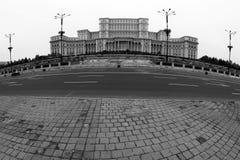 布加勒斯特视图-议会的宫殿 库存照片