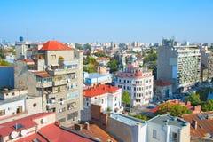 布加勒斯特都市风景,罗马尼亚 免版税库存图片