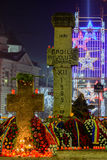布加勒斯特,罗马尼亚ï ¿ ½ 12月25日:Piata Universitatii罗马尼亚语 免版税库存图片