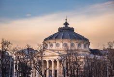 布加勒斯特,罗马尼亚雅典庙宇 库存图片