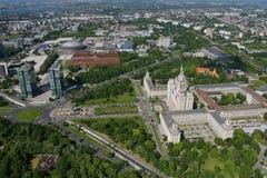 布加勒斯特,罗马尼亚,席子15日2016年:住处Presei Libere鸟瞰图在布加勒斯特 免版税库存图片