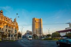 布加勒斯特,罗马尼亚,2018年11月:洲际的旅馆是其中一家最旧的旅馆在布加勒斯特 免版税库存照片